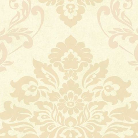Arthouse Vintage Palazzo Damask and Stripe Heavyweight Vinyl Wallpaper 290403 Sandstone