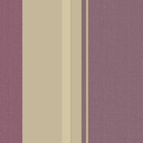 Arthouse Vintage Palazzo Damask and Stripe Heavyweight Vinyl Wallpaper 290500 Mulberry
