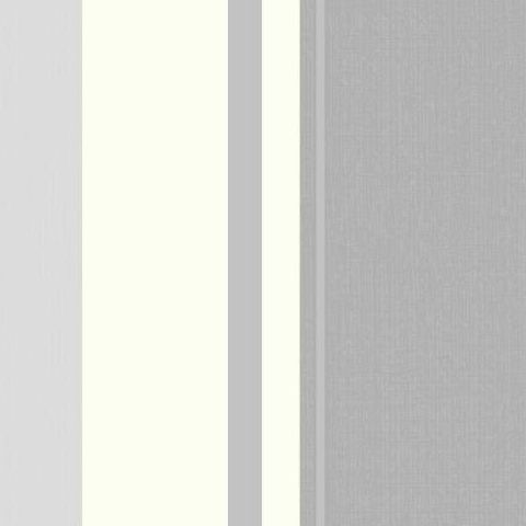 Arthouse Vintage Palazzo Damask and Stripe Heavyweight Vinyl Wallpaper 290503 White/Platinum