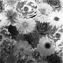 Arthouse Vintage Foil Wallpaper-Bloom 294001 Mono