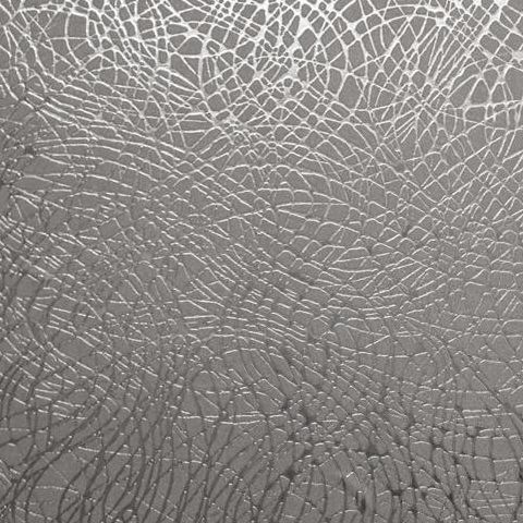 Arthouse Vintage Foil Wallpaper-Swirl 294102 Silver