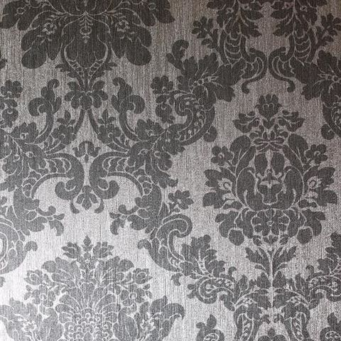 Arthouse Vintage Foil Wallpaper-Damask 294401 Silver