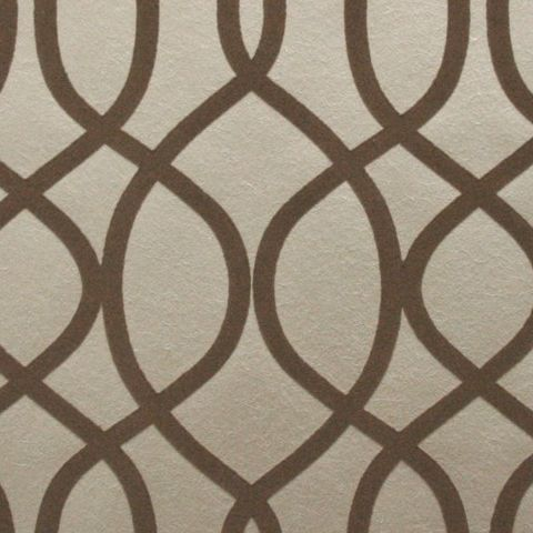 Graham and Brown Ultimate Flock Wallpaper-Kelly Hoppen Knightsbridge 32-327 Taupe