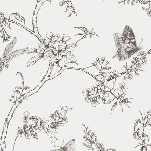 Super Fresco Easy Wallpaper-Contour for Kitchens and Bathrooms-Nature Trail White Mica 33-008