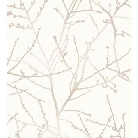 Super Fresco Easy Innocence Wallpaper 33-271 Stone and Cream