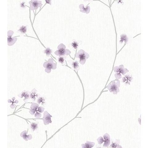 Super Fresco Easy Innocence Wallpaper Radiance 33-282 White and Lavender
