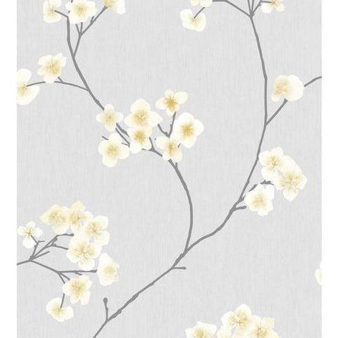 Super Fresco Easy Innocence Wallpaper Radiance 33-285 Grey and Ochre