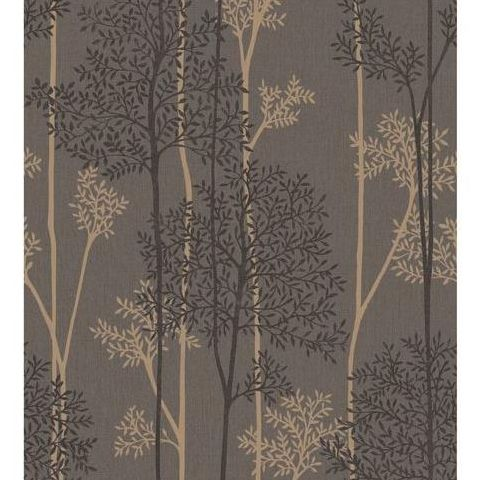 Super Fresco Easy Innocence Wallpaper Eternal 33-289 Charcoal and Bronze
