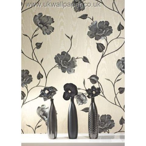 Opus Bella Trail Vinyl Wallpaper 33678 Black/Cream