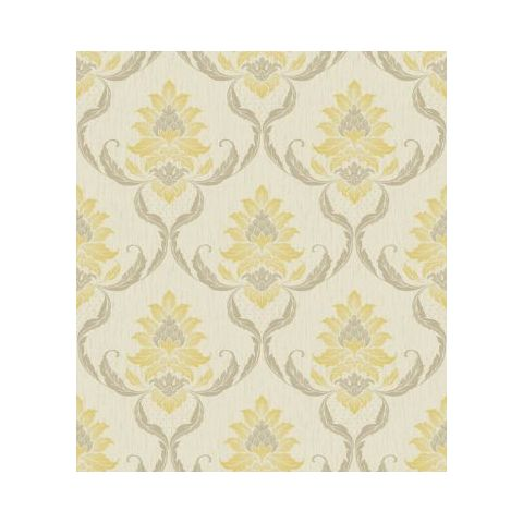 Opus Viviani Glitter Damask-33931 Sunflower/Cream