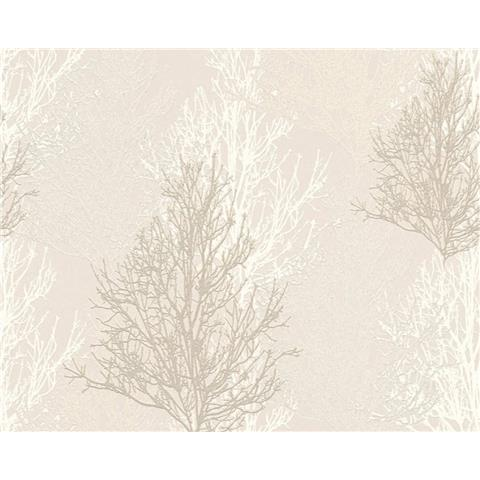 AS Creations Glitter Tree Wallpaper 34819-1 Cream/White