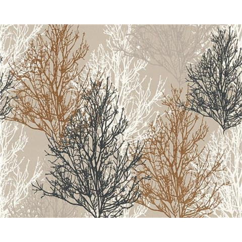 AS Creations Glitter Tree Wallpaper 34819-3 Brown/Taupe