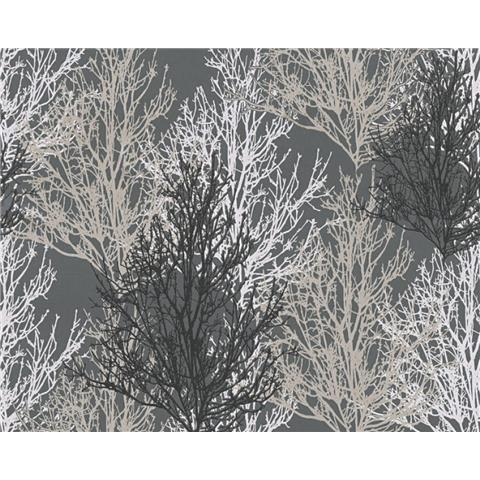 AS Creations Glitter Tree Wallpaper 34819-4 Black/Grey