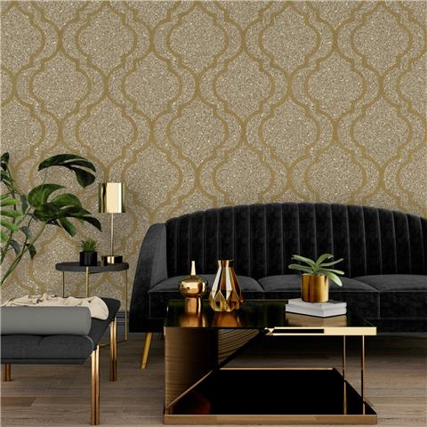 Zambaiti Massima Trellis Wallpaper 351 Gold