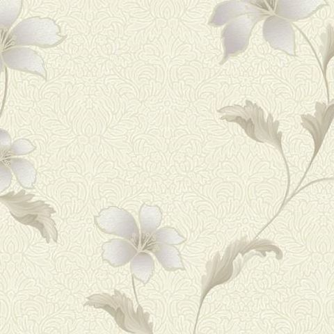 Holden Opus Floriana Floral Wallpaper 35300 Cream/Heather