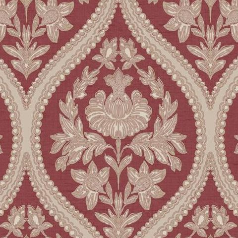 Holden Opus Wallpaper Pienza Damask 35483 Red