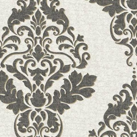 Holden Opus Wallpaper Hadrian Damask 35505 Dove/Charcoal