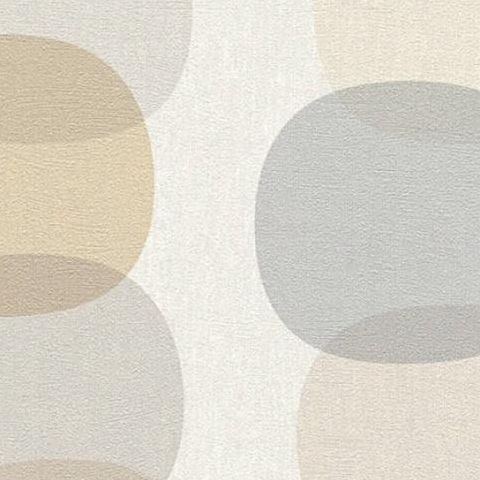 AS Creations Pop Colours Wallpaper Offlong Circle 355903 Taupe/Coffee