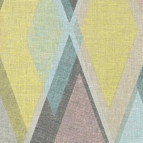 AS Creations Pop Colours Wallpaper Deco Diamond 355913 Blue/Yellow