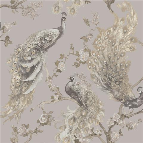 Statement wallpaper Menali peacock 35920 Grey