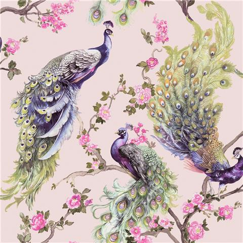 Statement wallpaper Menali peacock 35923 pink