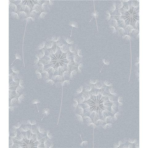 OPUS Allora Dandelion HEAVYWEIGHT ITALIAN VINYL WALLPAPER 36003 blue