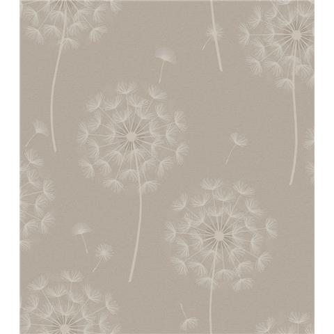 OPUS Allora Dandelion HEAVYWEIGHT ITALIAN VINYL WALLPAPER 36004 taupe