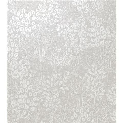 Opus Majella Cream Shimmer Woodland Stag Wallpaper on Heavyweight Vinyl 36051