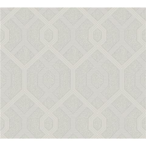 AS Creations Jewel II Textured Vinyl Geometric Wallpaper 36874-3 Silver