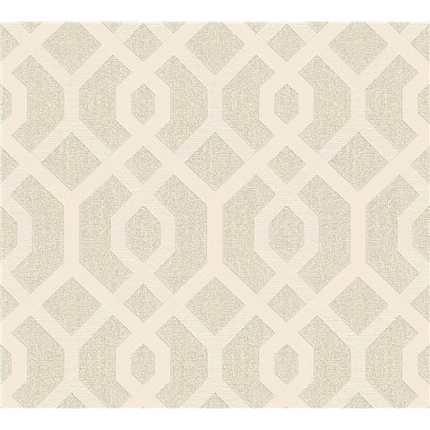 AS Creations Jewel II Textured Vinyl Geo Wallpaper 36874-4 Cream