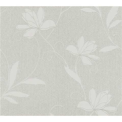 AS Creations Jewel II Textured Vinyl Floral Wallpaper 36876-3 Silver