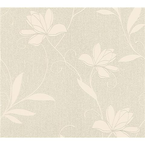 AS Creations Jewel II Textured Vinyl Floral Wallpaper 36876-4 Cream