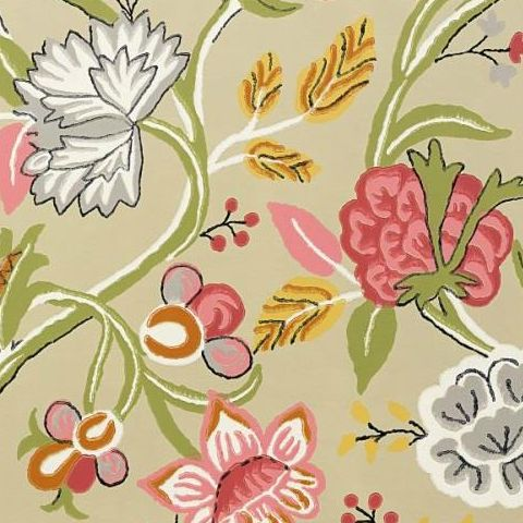 Thibaut Jubilee Cayman Wallpaper T4904 Beige and Pink