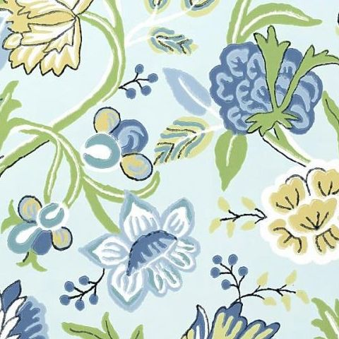 Thibaut Jubilee Cayman Wallpaper T4905 Blue and Green
