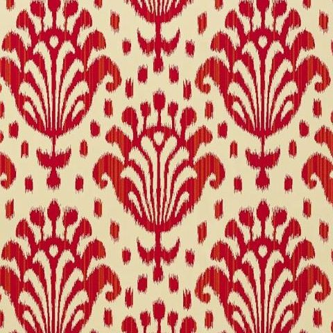 ThibautJubilee Thai Ikat Wallpaper T4947 Raspberry