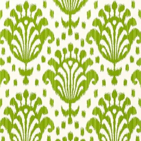 ThibautJubilee Thai Ikat Wallpaper T4951 Apple Green