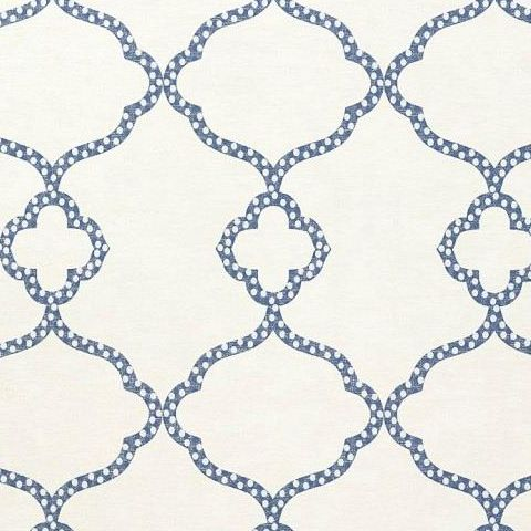 Thibaut Menswear Gibralter Trellis Wallpaper T4958 Dark Blue