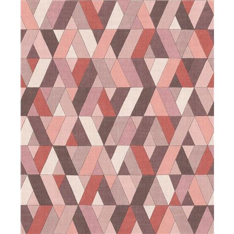 Rasch Barbara Home Geo Wallpaper 536737 Pink/Aubergine