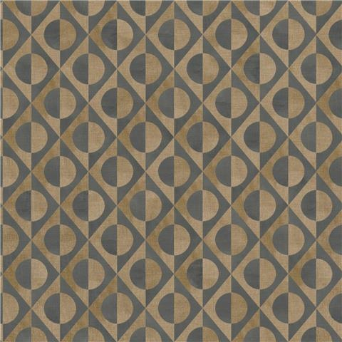 Rasch Club Botanique Eclipse Wallpaper 538670 chocolate/gold