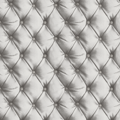 Arthouse Desire Quilted Look Wallpaper Silver 618104