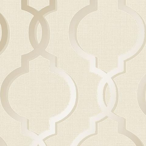 Holden Statement Midas Laticia Trellis Wallpaper- 65491 Cream/Gold