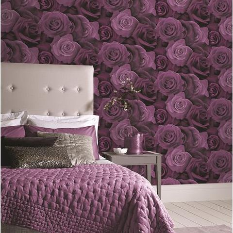 Arthouse Opera Austin Rose Wallpaper Plum