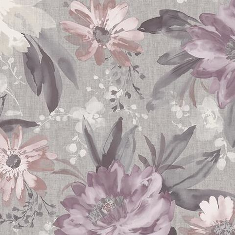 Arthouse Bloom Wallpaper Painted Dahlia 676106 Heather