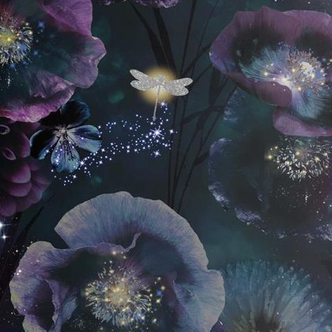 Arthouse Fantasia Wallpaper-Nocturnal 692301 Purple/Teal