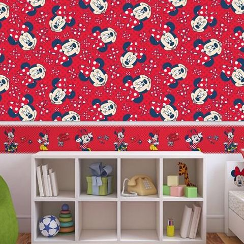 Minnie Mouse Red Bow Wallpaper 70-235