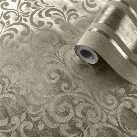MURIVA COUTURE Mara Damask WALLCOVERING 701530 gold