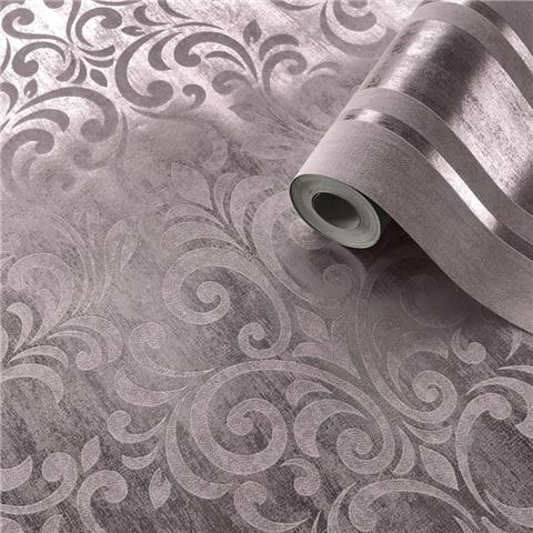 MURIVA COUTURE Mara Damask WALLCOVERING 701532 rose gold