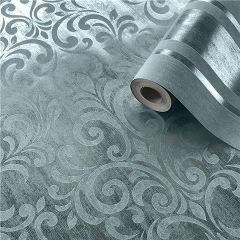 MURIVA COUTURE Mara Damask WALLCOVERING 701533 Duck egg