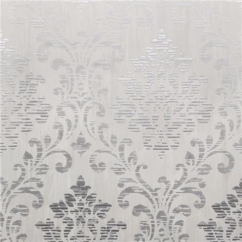 Muriva Couture Wallcovering Charice Damask 702001 silver