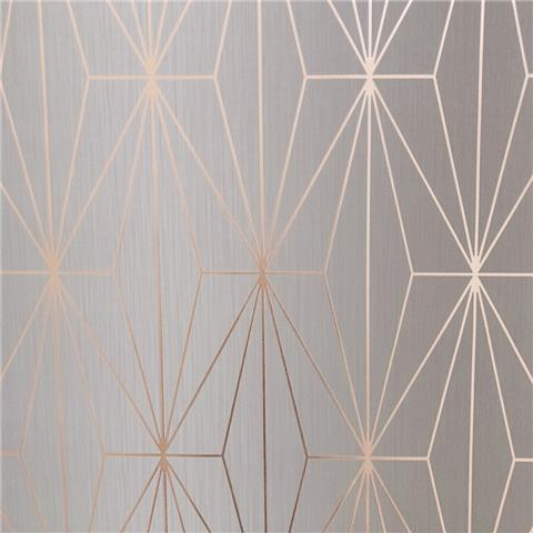 MURIVA COUTURE WALLCOVERING kayla 703013 grey/rose gold